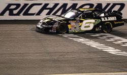 Darrell Wallace Jr. takes checkered flag at Richmond International Raceway