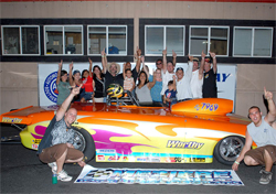 Darryl Mitchell in Winner's Circle after an incredible day of racing in the 2009 Pro Gas Series