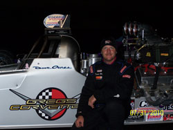 David Oenes and his Oenes Motorsports dragster.