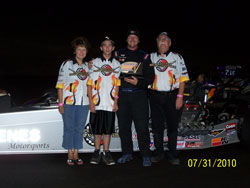 Oenes credits his sponsors, including Greg's Corvette's, Greeley Truck Parts, and K&N Engineering for all of the success the team continues to have.