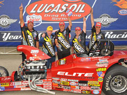 David Rampy has won three Competition Eliminator NHRA National victories in a row
