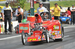 Rampy competes in two categories on the NHRA circuit, Stock and Competition Eliminator.