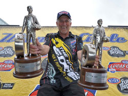 David Rampy adds two more NHRA Wally's to his growing collection.