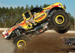 Monster Truck Racing Association Rookie of the Year Zach Adams debuted Defender in May of 2009