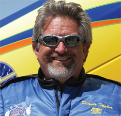 Top Alcohol Funny Car Driver Dennis Taylor partnered with K&N for NHRA's Northwest Division 6 Swing