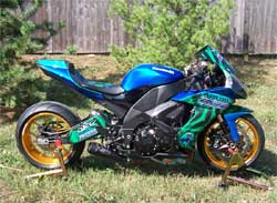 Eco Friendly 2008 Custom Kawasaki ZX-10
