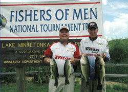 Derek and his father, teammate Bob Kuntz, earned fifth place in Lake Minnetonka Big Bass Tournament.