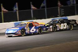 Derek Thorn and Dylan Kwasniewski racing nose-to-tail.