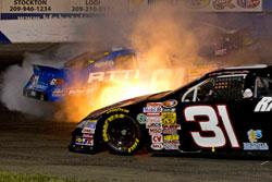 NASCAR K&N Pro Series West multi-car incident at G-Oil 150