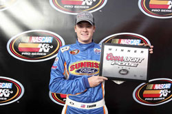Thorn won the pole, another K&N Pro Series West first, and led a race-high 141 laps.