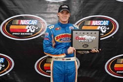 Derek Thorn won the pole and led the first 90 laps of this NASCAR K&N Pro Series West race.