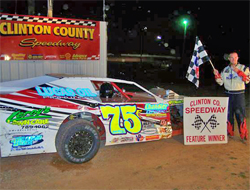 Third time is the charm for three-peat winner Elliot Despain at Clinton County Speedway in Alpha, Kentucky