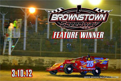 The season opening win at Brownstown Speedway was Elliott Despain's first ever at the legendary dirt oval.