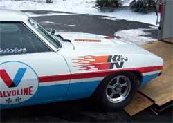Dan Fletcher's 1969 Stock Eliminator Chevy Camaro with new paint