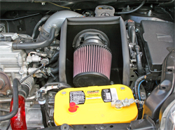 Killerglass Radiator Hose, K&N Air Intake System 69-8613TS, and Optima Yellow Top Batteries on 2008 Scion xB