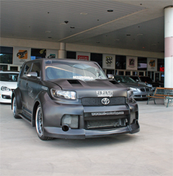 BRS Widebody Kit with Flat Black Custom Paint Job on Scion xB