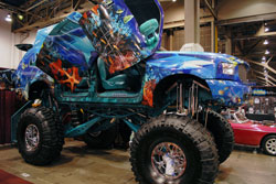 "2011 SEMA Show featured thus custom Ford Excursion called the ""Seascursion"""