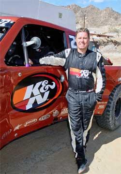 Damen Jefferies and his K&N sponsored Trophy Truck