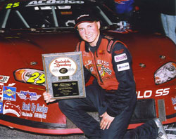 Scott Dodd is the youngest driver to win a Super Late Model race at Toyota Speedway of Irwindale