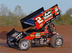 K&N sponsored racer Craig Dollansky's sprint car