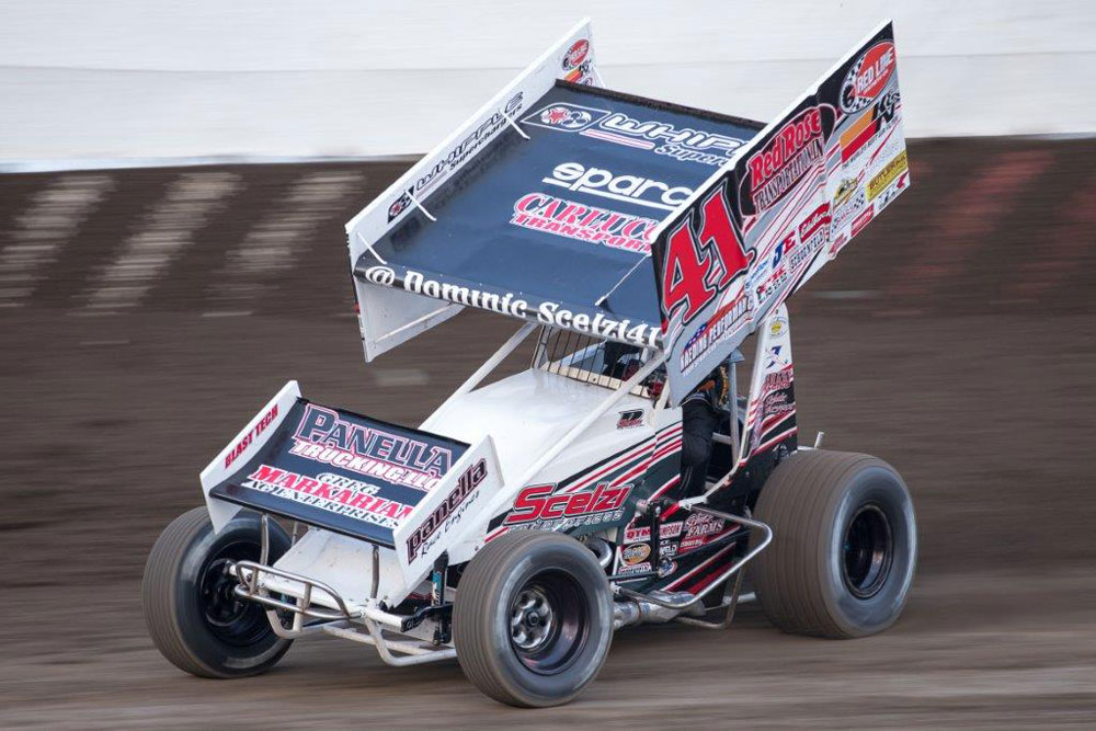 sprint car driver dominic scelzi races 360 class with Diesel Class C Motorhomes old diesel motorhomes