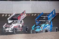Dominic Scelzi notches King of the West victory his first season racing a 410 sprint car.