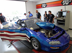 Top Dawg rolls into K&N's dyno facility