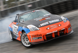 NOS Energy Maxxis Tires Nissan 350Z driven by Formula Drift Professional Championship Points Leader Chris Forsberg