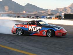 Formula DRIFT crowd braved triple digit temperatures at Las Vegas Motor Speedway
