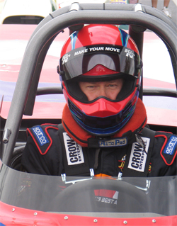 NHRA Sportsman class racer Duane LaFleur races in Super Gas and Super Comp