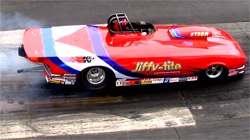 Duane LaFleur bested Tim McGuire to win a Wally in Super Gas at the NHRA Lucas Oil Drag Racing Series at Summit Racing Equipment Motorsports Park in Norwalk, Ohio