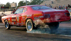 1974 Duster  in the TCI Twins Race in Rockingham, North Carolina