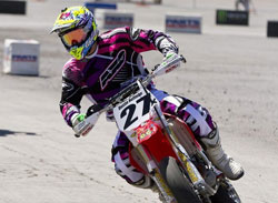 20 year old Dustin Hoffman has won 5 of 7 SuperMoto races this season
