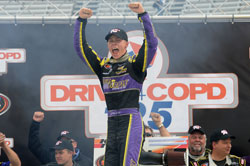 Dylan Kwasniewski won the DRIVE4COPD 125 at Bristol Motor Speedway in Tennessee