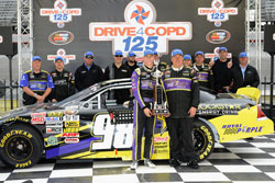 DRIVE4COPD 125 Trophy at Bristol Motor Speedway goes to K&N Pro Series West Racer Dylan Kwasniewski