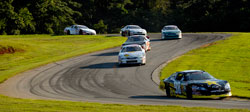 NASCAR K&N Pro Series East racer Dylan Kwasniewski leads the pack at Virginia International Raceway.