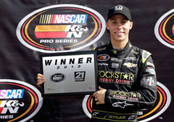 NASCAR K&N Pro Series East racer Dylan Kwasniewski takes the pole at Greenville Pickens Speedway race.