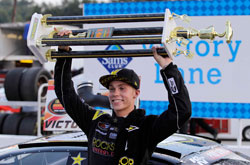 Dylan Kwasniewski wins the NASCAR K&N Pro Series East race at Greenville Pickens Speedway