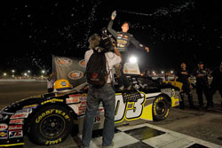 Dylan Kwasniewski became the youngest driver to win a K&N Pro Series race in either the West or East series.