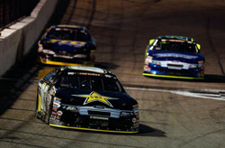 Dylan Kwasniewski began the race in third and passed Greg Pursley for the lead on lap 52.