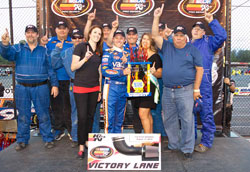 Dylan Lupton and his team made it to victory lane at Evergreen Speedway despite it being only his 12th career start in the NASCAR K&N Pro Series West.
