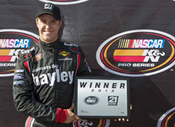 Cameron Hayley wins the pole for NAPA Auto Parts 150 at Evergreen Speedway in Monroe Washington.