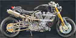 Titanium Series Motorcycle with K&N Air Filter
