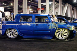 "Calvillo felt confident that his 2006 Hummer H2 would be the only one on display riding on 30"" billet wheels."