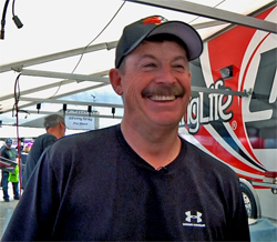 Edwards only needed to make a successful run down the track to clinch the NHRA Pro Stock title in his Young Life Pontiac GXP