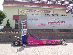 Elizabeth Pyles at Maple Grove Raceway
