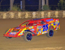 Elliott Despain won Open Wheel Modified Class at the Ponderosa Speedway Fall Classic and he set the fast time as well.