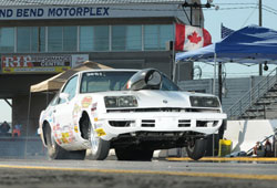 "1978 Monza sporting it's K&N Pro Stock Composite Hood Scoop, One of Two Car That Jacob Elrod did ""triple"" duty in at Grand Bend."