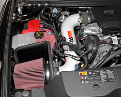 More horsepower, torque, and a touch of class for Duramax Diesel engines with Performance Air Intake System 77-3077KP, from K&N