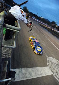 Eric Holmes wins Toyota/NAPA Auto Parts Bonus Challenge 150 at Douglas County Speedway